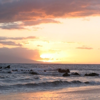 Ceremony, Reception, Flowers & Decor, Destinations, yellow, orange, pink, purple, blue, Hawaii, Sunset, Maui, A