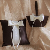 Ceremony, Flowers & Decor, ivory, brown, Accessories, Flower, Girl, Ring, Bridal, Chocolate, Basket, Pillow, Items, Lulys wedding accesories