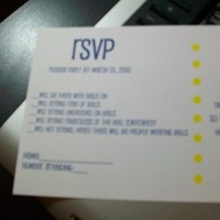 Stationery, yellow, blue, Invitations