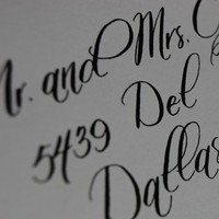 Stationery, white, black, Invitations, The left handed calligrapher - calligraphy