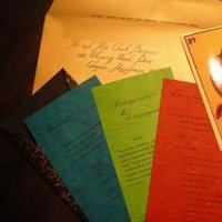 Stationery, gold, Invitations, The left handed calligrapher - calligraphy