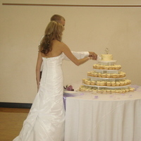 Beauty, Reception, Flowers & Decor, Wedding Dresses, Cakes, Fashion, white, purple, cake, dress, Hair