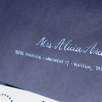 Stationery, black, silver, Invitations, The left handed calligrapher - calligraphy