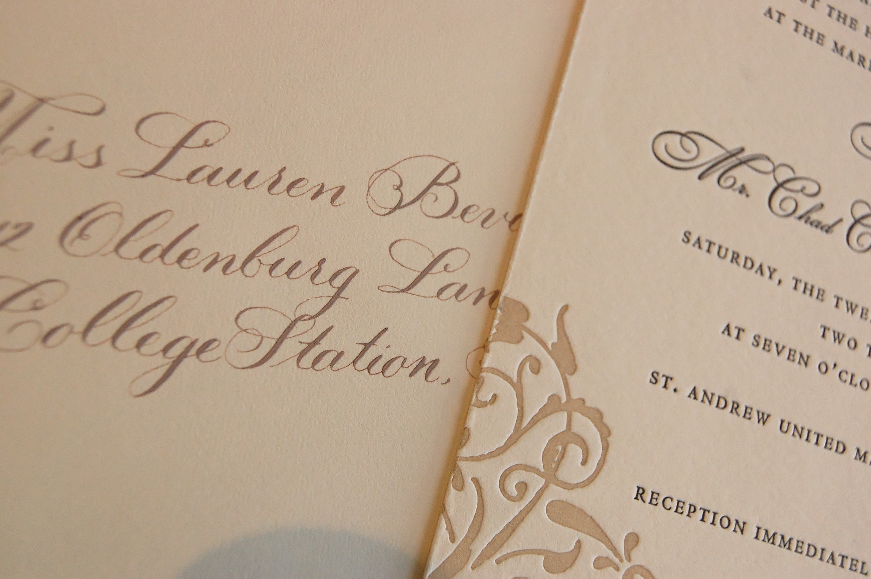 Stationery, Invitations, The left handed calligrapher - calligraphy