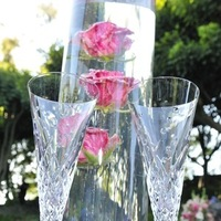 Reception, Flowers & Decor, red, Centerpieces, Roses, Centerpiece, Flutes, The double knot