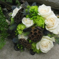 Flowers & Decor, blue, green, brown, Bride Bouquets, Flowers, Bouquet, Bridal, Designs by courtney