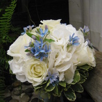 Flowers & Decor, white, blue, Flowers, Designs by courtney