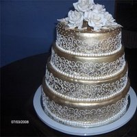 Cakes, gold, cake, La nanas art bakery