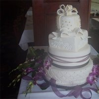 Cakes, white, purple, cake, La nanas art bakery