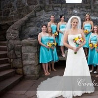 Flowers & Decor, Bridesmaids, Bridesmaids Dresses, Wedding Dresses, Fashion, yellow, blue, dress, Bridesmaid Bouquets, Flowers, Teal, Turquoise, Cardas photography, Flower Wedding Dresses