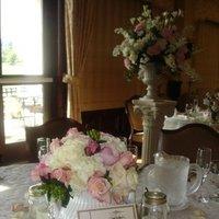 Reception, Flowers & Decor, white, pink, Centerpieces, Centerpiece, Veils and fairytales