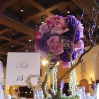 Flowers & Decor, purple, Centerpieces, Flowers, Centerpiece, Veils and fairytales