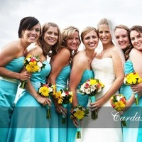 Bridesmaids, Bridesmaids Dresses, Fashion, yellow, blue, Teal, Turquoise, Cardas photography