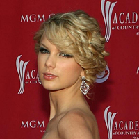 Beauty, pink, gold, Makeup, Updo, Wedding, Hair, Formal, Taylor, Highlights, Bangs, Swift