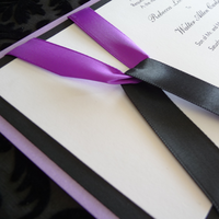 Stationery, purple, black, invitation, Invitations, Wedding, Custom, Set, Stationary, Classy, Perfection on paper