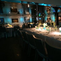 Reception, Flowers & Decor, white, blue, Centerpieces, Centerpiece, Uplighting