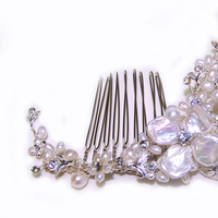 Beauty, Jewelry, Comb, Hair, Pearls, Freshwater, One world designs