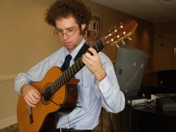 Reception, Flowers & Decor, blue, brown, black, Nate dickinson, classical guitarist