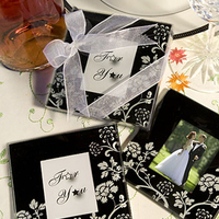 Favors & Gifts, black, Favors, Black and white, Coaster, Favors by serendipity