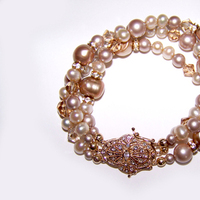 Jewelry, Bracelets, Crystal, Bracelet, Pearl, Freshwater, One world designs