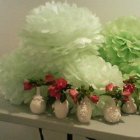 Reception, Flowers & Decor, white, pink, green, Flowers, Vases