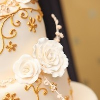Cakes, white, yellow, gold, cake