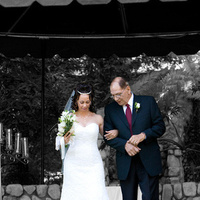 Ceremony, Flowers & Decor, white, black, Bride, Groom, Isolated, Chris guzman photography