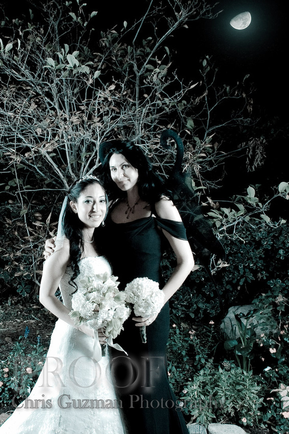 Bridesmaids, Bridesmaids Dresses, Fashion, blue, black, Outdoors, Night, Trees, Moon, Chris guzman photography