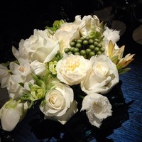 Reception, Flowers & Decor, white, blue, Centerpieces, Flowers