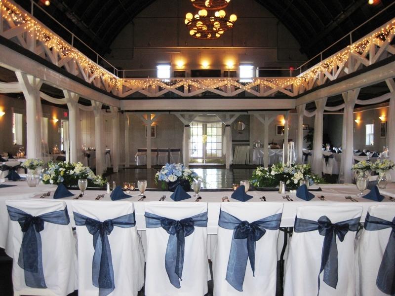 Reception, Flowers & Decor, white, blue, venue