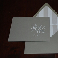 Stationery, silver, Invitations, Thank you, Note