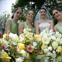 Flowers & Decor, Bridesmaids, Bridesmaids Dresses, Fashion, white, yellow, pink, green, Bridesmaid Bouquets, Flowers, Flower Wedding Dresses