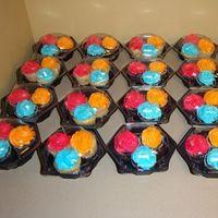 Cakes, orange, pink, blue, cake, Cupcakes