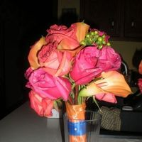 Flowers & Decor, Bridesmaids, Bridesmaids Dresses, Fashion, orange, pink, Bridesmaid Bouquets, Flowers, Flower Wedding Dresses