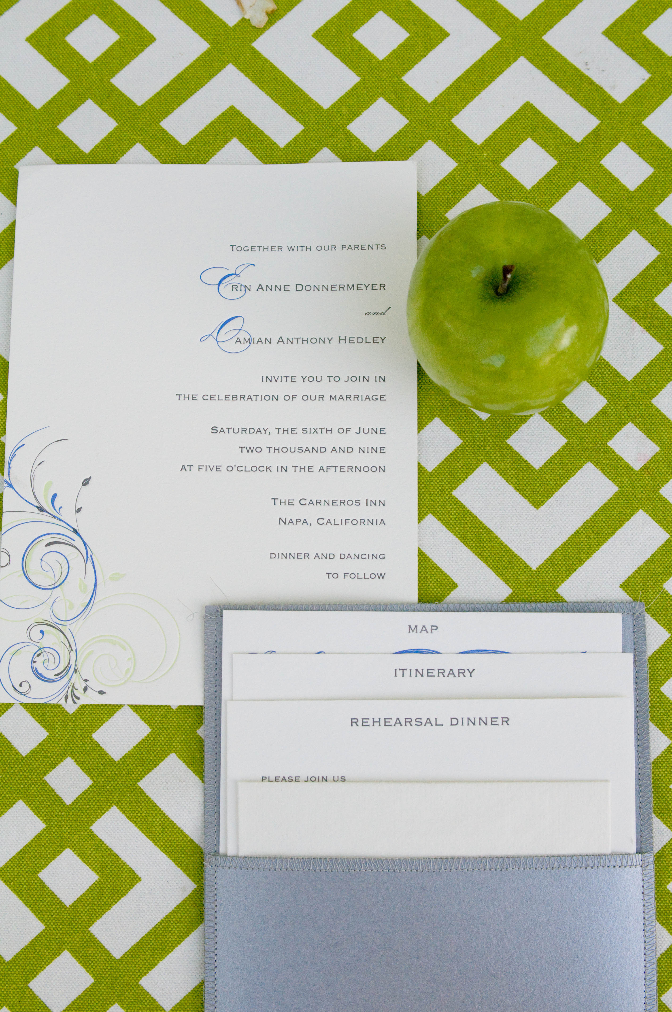 Stationery, green, Invitations, Angie silvy photography