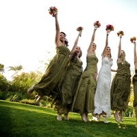 Bridesmaids, Bridesmaids Dresses, Fashion, green, Hotel, The, Palm, Parker, Springs, Dont smile now