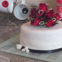 Cakes, white, red, cake, Topper