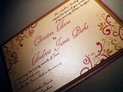 Stationery, yellow, pink, purple, green, Invitations, Jujubee designs