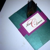 Stationery, pink, purple, green, Invitations, Peacock, Jujubee designs