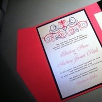 Stationery, pink, blue, Invitations, Monogram, Ribbon, Pocketfold, Flourish, Jujubee designs, Bellyband