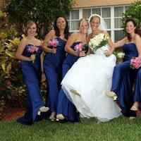 Beauty, Flowers & Decor, Bridesmaids, Bridesmaids Dresses, Wedding Dresses, Fashion, white, blue, dress, Makeup, Bridesmaid Bouquets, Flowers, Party, Hair, Bridal, Aponte studios, Flower Wedding Dresses