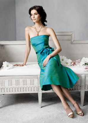 Bridesmaids, Bridesmaids Dresses, Fashion, blue, green, Jim hjelm occasions, Tafetta