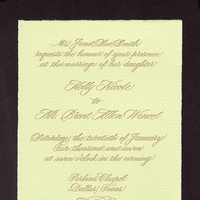 Stationery, green, Invitations, Letterpress, A written treasure, Calligrpahy