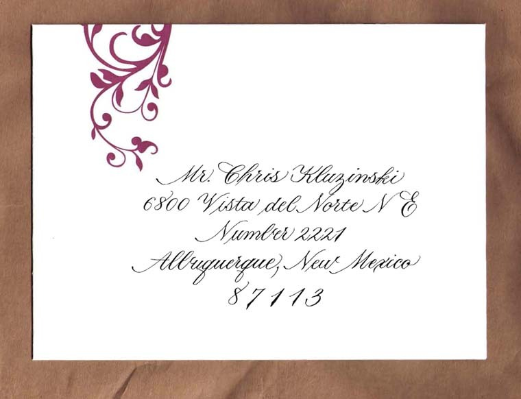 Calligraphy, Stationery, pink, red, purple, Invitations, Letterpress, A written treasure