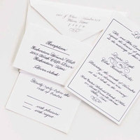 Calligraphy, Stationery, blue, invitation, Invitations, Letterpress, A written treasure