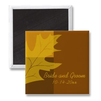 Stationery, yellow, orange, brown, Fall, Invitations, Save-the-Dates, Save the date, Magnet, Magnets, Autumn, Leaves, Fall wedding, Fall leaves, Autumn leaves, Autumn wedding, Save the date magnet, A wedding collection by lora severson photography, Wedding magnet