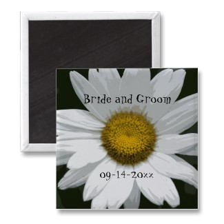 Flowers & Decor, Favors & Gifts, Stationery, white, green, favor, Announcements, Invitations, Save-the-Dates, Flower, Save the date, Floral, Daisy, Announcement, Save the date magnet, A wedding collection by lora severson photography, Floral wedding, Wedding magnet, Daisy wedding