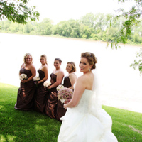 Flowers & Decor, Bridesmaids, Bridesmaids Dresses, Wedding Dresses, Fashion, pink, brown, dress, Bridesmaid Bouquets, Flowers, Flower Wedding Dresses