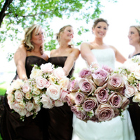 Flowers & Decor, Bridesmaids, Bridesmaids Dresses, Fashion, pink, brown, Bridesmaid Bouquets, Flowers, Flower Wedding Dresses