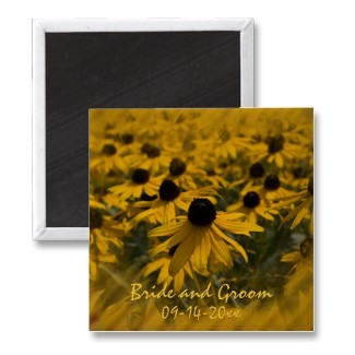 Flowers & Decor, Stationery, yellow, Announcements, Invitations, Save-the-Dates, Flower, Save the date, Floral, Daisy, Announcement, Save the date magnet, A wedding collection by lora severson photography, Floral wedding, Wedding magnet, Daisy wedding, Black eyed susan wedding